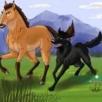 At və canavarın səsli nağılı
